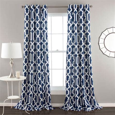 navy window curtains edward navy 84 x 52 inch curtain panel pair lush decor