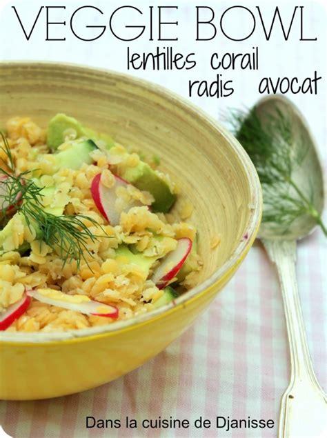 cuisine cor馥nne recette veggie bowl aux lentilles corail blogs de cuisine