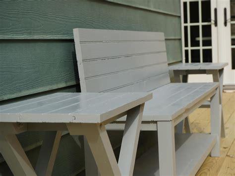 build  exterior bench   upcycled door  tos diy