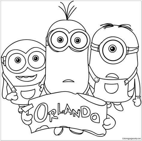 family minions coloring page  coloring pages