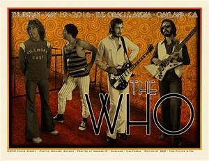 The Who Oracle Arena Oakland Poster - Chuck Sperry