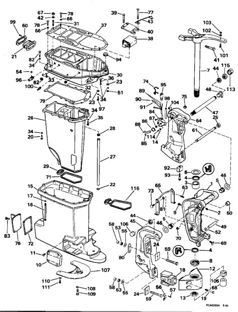 mercury outboard 115 hp diagrams tilt and trim mercury