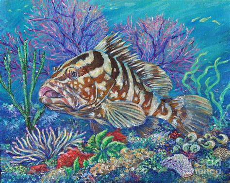 grouper painting newton li groucho paintings 29th uploaded june which