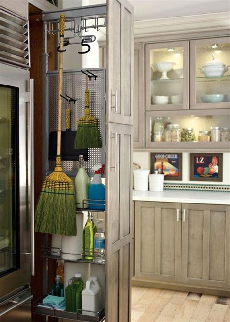 Cleaning Kitchen Cupboard Doors by Way To Keep Broom Outta Sight New Home Utility