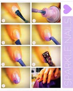 Nail art steps with pictures : Simple nail art step by instruction fashionate trends