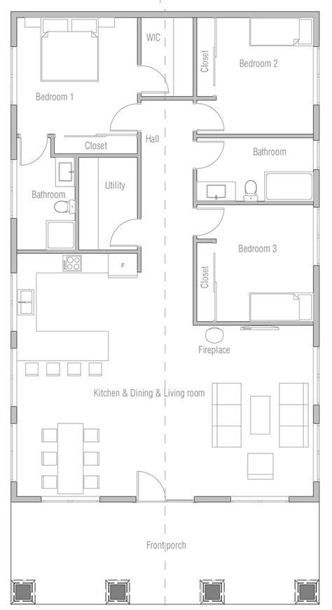 Opción #1 House construction plan Eco house design My