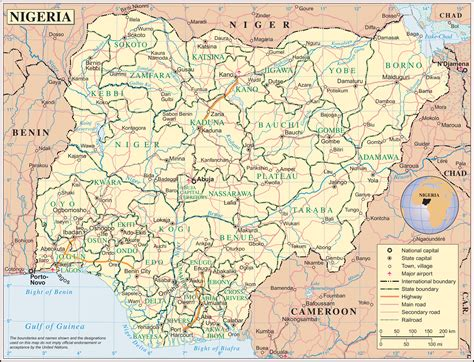 maps  nigeria map library maps   world