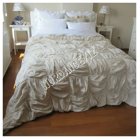 shabby chic ruched bedding square ruched bedding duvet cover full queen king custom
