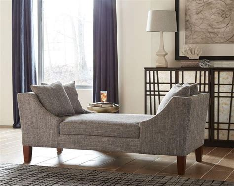 mid century modern grey double sided chaise