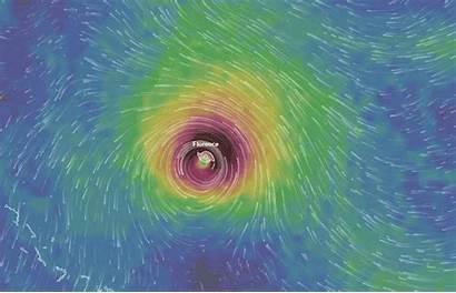 Hurricane Wind Map Mesmerizing Florence Gifs Redd