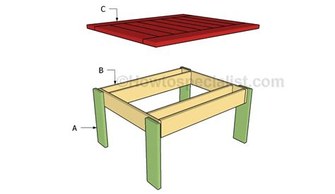 how to build an outdoor side table small outdoor table plans howtospecialist how to build
