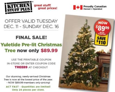 kitchen stuff plus yuletide pre lit tree 89 99