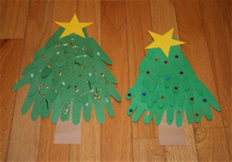 christmas decorations for toddlers with construction paper handprint tree craft all network