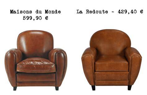canapé cuir vintage pas cher le même en moins cher un fauteuil
