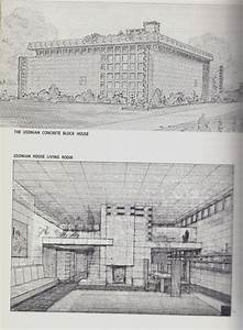 Frank Lloyd Wright interior drawings. Recommended by Iggy ...