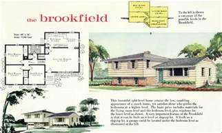 tri level house plans 1970s 1960 modern style tri level home plan the brookfield
