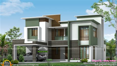 home design bedding simple contemporary house and plan keralahousedesigns 390