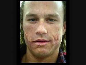 Make-up pic for Heath Ledger's role as the Joker in The ...