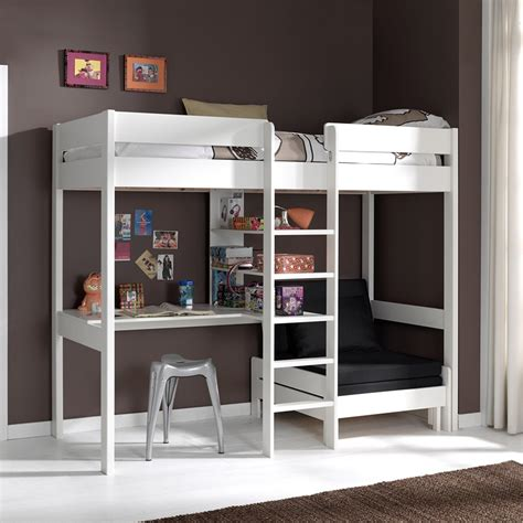 lit mezzanine avec bureau lit mezzanine avec fauteuil et bureau aubin en pin massif