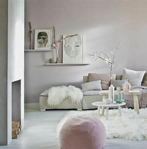 Salon Gris Et Rose : quelle peinture choisir pour l 39 int rieur id es en 55 photos ~ Preciouscoupons.com Idées de Décoration