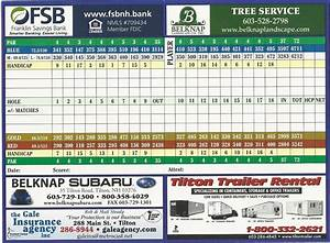 Scorecard - Lochmere Golf Country Club