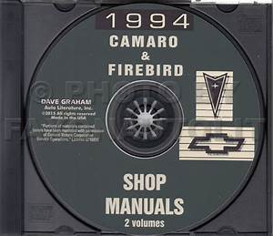 1994 Camaro Trans Am Firebird Shop Manual Cd Chevy Z28