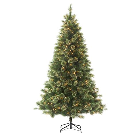 jaclyn smith 75 ft ridgedale pine multi color lit christmas tree smith trees artificial tree