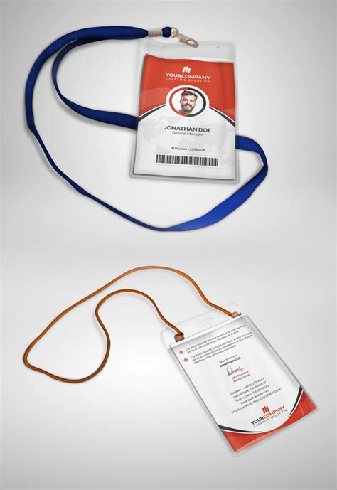 Id Card Design Template Psd Free Download