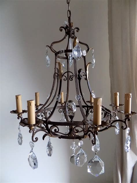 antique forged wrought iron chandelier