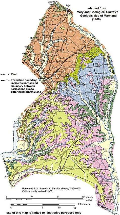 geologic maps  maryland prince georges county
