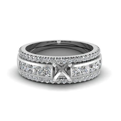heart bridal trio with black diamond in 14k white gold fascinating diamonds