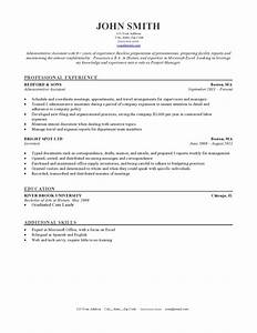 50 free microsoft word resume templates for download for Chicago resume template