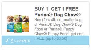 purina cat food coupons new buy 1 get 1 free bag of purina chow food