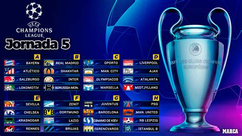 Calendario Champions League: Partidos, resultados ...