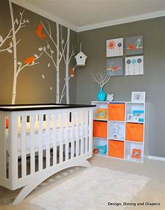 Baby e39s modern bird inspired nursery gender neutral for Modern unisex nursery ideas