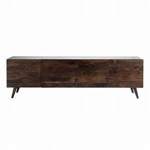 Sideboard 240 Cm : solid sheesham wood vintage sideboard in brown w 240cm soho maisons du monde ~ Frokenaadalensverden.com Haus und Dekorationen