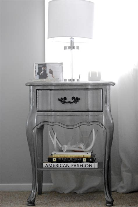 diy nightstand silver night makeover grey monday table xx hope inspiration found shabby chic