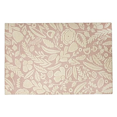 land of nod rugs pink forest floor rug the land of nod