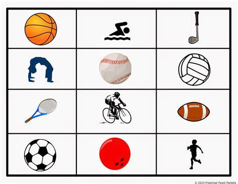 sports theme preschool lesson preschool powol packets 724 | Sports Grid Game
