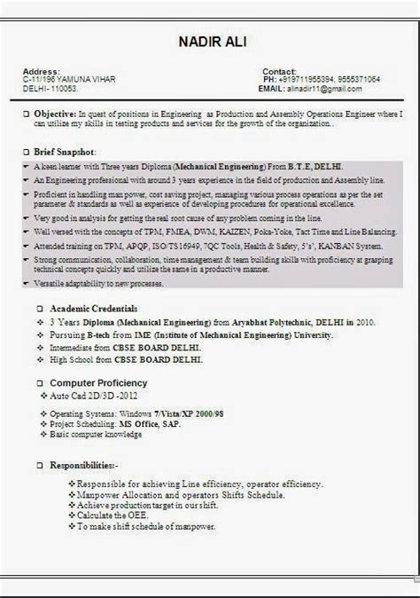 Z Resume by Resume Format Curriculum Vitae Format Romana