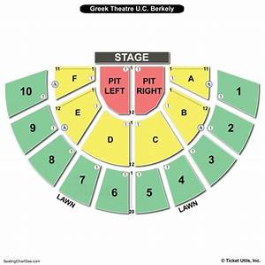 Greek Theater Los Angeles Seating Chart Seating Chart Greek Theatre Wallseat Co