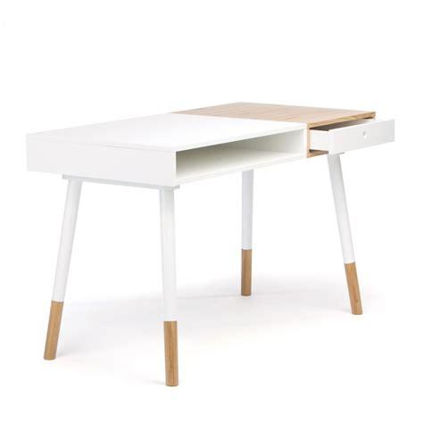 bureau blanc et bois bureau design bois et blanc mzaol com