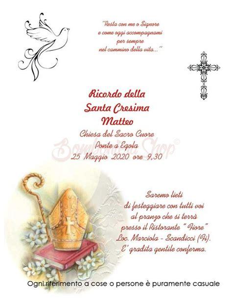 clipart cresima partecipazione per santa cresima colorata partecipazioni
