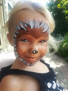 Karneval Schminken Tiere : hedgehog full face paint facepainting kinder schminken gesicht schminken und kinderschminken ~ Frokenaadalensverden.com Haus und Dekorationen