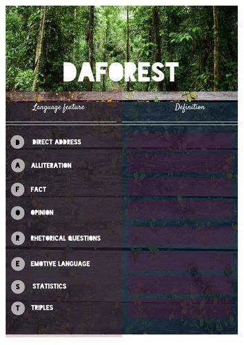 daforest poster  worksheet teaching resources