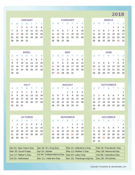 annual calendar design template  printable