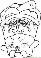 Coloring Ice Cream Shopkins Dream Shopkin Printable Getcolorings Coloringpages101 Template sketch template