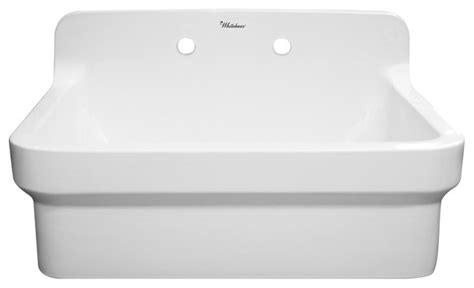 whitehaus collection laundry sink with high backsplash white utility sinks houzz