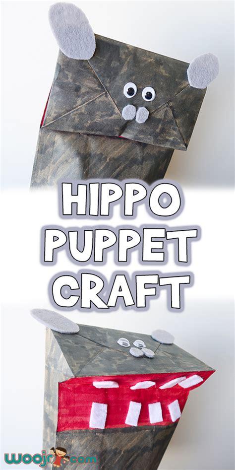 paper bag hippo puppet craft woo jr kids activities