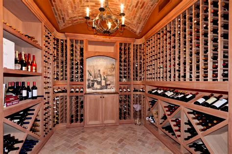 Modern Tufted Leather Sofa by Wine Cellar Ideas Wine Cellar Mediterranean With Brick